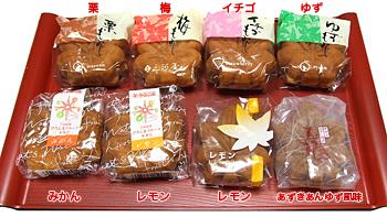 もみじ饅頭フルーツ系1パッケージ